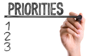 Priorities - shutterstock_314490425